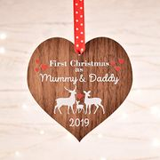 First Christmas as Mummy and Daddy Decoration 1st Xmas Bauble Ornament New Baby