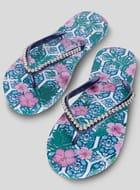 Women's Tile Print Flip-Flops - save £2.60