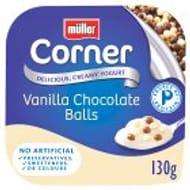 Muller Corner Vanilla Yogurt with Chocolate Balls 130g