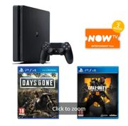 500GB PLAYSTATION 4 with DAYS GONE+CALL of DUTY BLACK OPS 4 & NOW TV Only £219