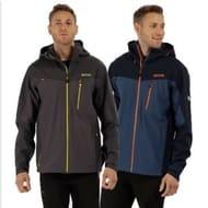 Regatta Mens Birchdale Isotex 10000 Waterproof Jacket Black Blue