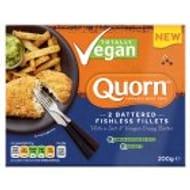 Quorn Vegan Battered Fishless Fillets 200g