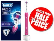 SAVE £40! Oral-B Pro 2 2000 3D White Electric Rechargeable Toothbrush