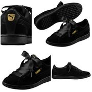 Women's Puma Vikky Ribbon Suede Shoes.