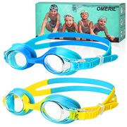 OMERIL Swimming Goggles, (2 Pack) Kids Swimming Goggles