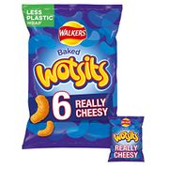 8p per Bag! Walkers Wotsits Really Cheesy Multipack Snacks 6 X 16.5g (Box of 12)