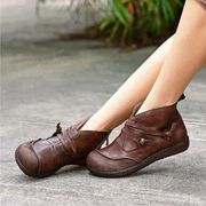 SALE!!! Womens' Retro Zipper Flat Ankle Boots