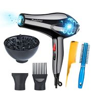 Professional Ionic Hair Dryer with Diffuser, Salon Lightweight Hairdryer Sets