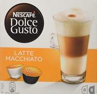 Nescafe Dolce Gusto Latte Macchiato Coffee Pods, 48 Capsules, 24 Servings