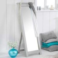 Cheap Sandringham Grey Painted Oak Cheval Long Floor Mirror - Save £60