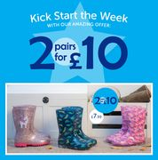 Special Offer! Mix + Match 2 Pairs for £10 WELLINGTONS and SLIPPERS