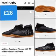 (Still in stock) Adidas Predator Tango 18.3 TF Kids Football Trainers.