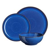 50% OFF! Denby 12-Piece Stoneware Imperial Breakfast Plate & Bowl Set, Blue