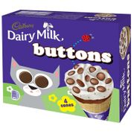 Cadbury Dairy Milk Buttons Ice Cream Cones 4pk