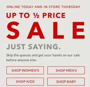 Early Access Asda George up to 50% off Clothing Sale - Women's, Men's & Kid's