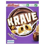 Krave Milk Chocolate Cereal Shells 375 G (Pack of 6)