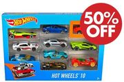Hot Wheels - Pack of 10 Cars