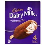 Cadbury Dairy Milk Ice Cream 4 X 100ml HALF PRICE