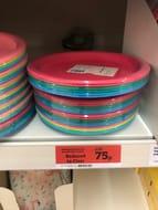 Kids Plastic Plates 6pk - Half Price