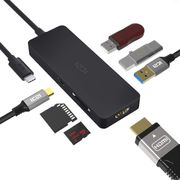 USB C Hub, ICZI 7 in 1 Type C Hub with 4K HDMI, USB C Power Delivery