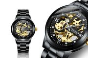Men's All Black Luxury Automatic Stainless Steel Watch