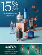 15% off Mens Skin Care and Aftershave