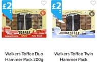 Walkers Toffee Twin Hammer Pack