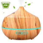 Essential Oil Diffuser, 4 Timer Ultrasonic Aroma Aromatherapy Diffuser