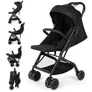 Stroller Pushchair Lightweight,Six Wheel,Black