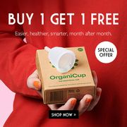 Buy 1 Get 1 Free on Organicups