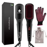 MiroPure 2-in 1 Ionic Hair Straightener Brush MCH Heating Smoothing Brush