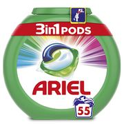 Ariel 3-in-1 Pods Colour and Style Washing Capsules, 55 Washes (Amazon Pantry)