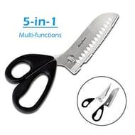 BangShou Heavy Duty Stainless Steel (5-in-1 Kitchen Scissors)