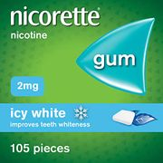 Nicorette Icy White Chewing Whitening Gum, 105 Pieces, 2 Mg
