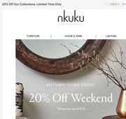 20% off This Weekend Only at NKUKU