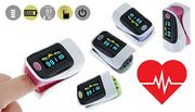 Fingertip Oxygen and Heart Rate Monitor Oximeter - 5 Colours