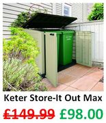 Save £52 at Amazon - Keter Store-It out Max - Storage Shed