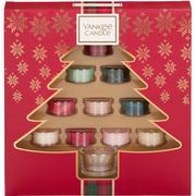 Yankee Candle Gift Set with 10 Scented Tea Lights and 1 Tea Light Holder