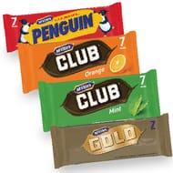 McVities Club Mint, Club Orange, Gold, Penguin 7 Pack - 21% Off!