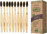 10 Pack Bamboo Toothbrushes with Eco-Friendly Paper Packaging