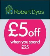 Robert Dyas: £5 off on £25 Spend Instore and Online Using Code