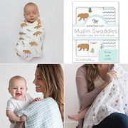 Amazing Baby Cotton Muslin Swaddle Blankets, Set of 3, Outdoor Adventure