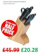 Kitchen Devils Knife Block - HERE'S HOW TO GET IT FOR £20.28!