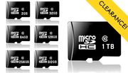 Micro SD Memory Card with Adaptor - 2, 32, 64, 128, 256, 512GB or 1TB