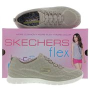 45% Off! Womens EZ FLEX MEMORY FOAM Trainers from Sketchers TAUPE or BLACK