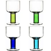Sagaform Club All-Purpose Glasses, Blue/Green, Set of 4
