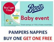 PAMPERS NAPPIES - Buy One Get One Free - BOOTS BABY EVENT