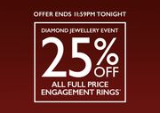 Save 25% on Engagement Rings!