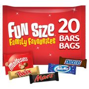 Mars Variety Chocolate Fun Size Bag 358g 20pk