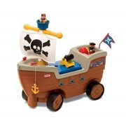 Little Tikes Play N Scoot Pirate Ship Kids Ride on Activity Play Set